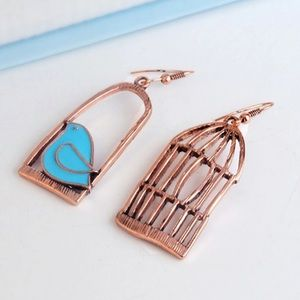 Jewelry - Copper color  birdcage earrings NEW